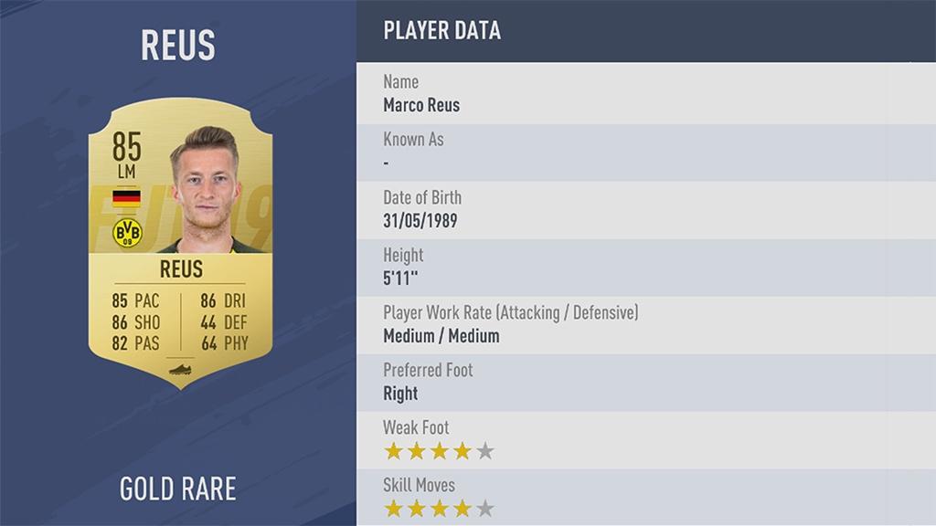 МАРКО РОЙС в рейтинге FIFA 19 ТОП 100