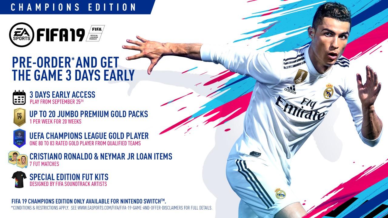 FIFA 19 изданиеCHAMPIONS для NINTENDO SWITCH